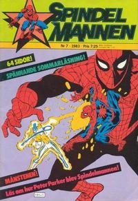 Cover Thumbnail for Spindelmannen (Atlantic Förlags AB, 1978 series) #7/1983