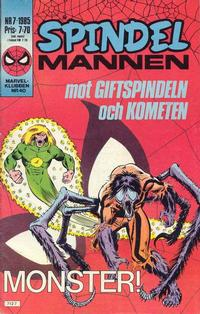 Cover Thumbnail for Spindelmannen (Semic, 1984 series) #7/1985