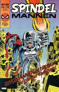 Cover Thumbnail for Spindelmannen (Semic, 1984 series) #11/1985