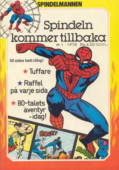 Cover for Spindelmannen (Atlantic Förlags AB, 1978 series) #1/1978