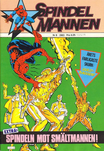 Cover for Spindelmannen (Atlantic Förlags AB, 1978 series) #8/1983
