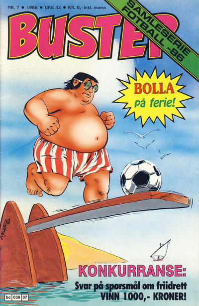 Cover for Buster (Semic, 1984 series) #7/1986