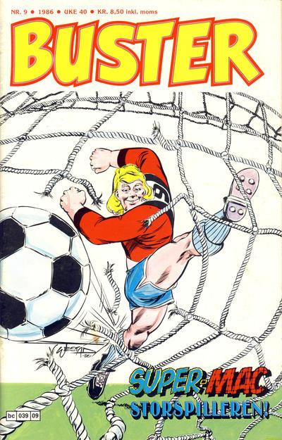 Cover for Buster (Semic, 1984 series) #9/1986