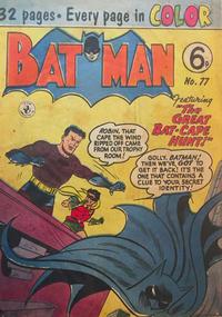 Cover Thumbnail for Batman (K. G. Murray, 1950 series) #77