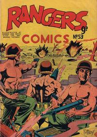 Cover Thumbnail for Rangers Comics (H. John Edwards, 1950 ? series) #53