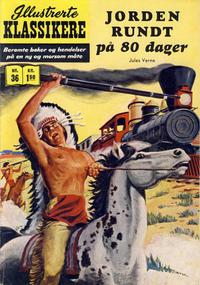 Cover Thumbnail for Illustrerte Klassikere [Classics Illustrated] (Illustrerte Klassikere / Williams Forlag, 1957 series) #36 - Jorden rundt på 80 dager [1. opplag]