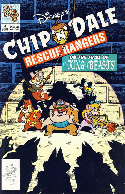 Cover for Chip 'n' Dale Rescue Rangers (Disney, 1990 series) #4 [Newsstand Edition]