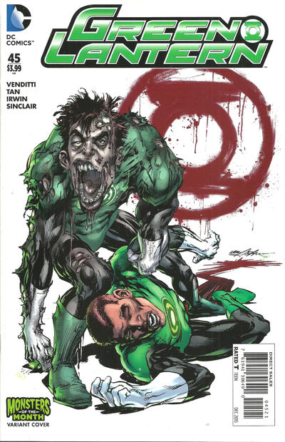 Cover for Green Lantern (DC, 2011 series) #45 [Monsters of the Month Variant]