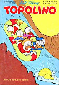 Cover Thumbnail for Topolino (Arnoldo Mondadori Editore, 1949 series) #745