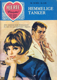 Cover Thumbnail for Hjerterevyen (Serieforlaget / Se-Bladene / Stabenfeldt, 1960 series) #19/1974
