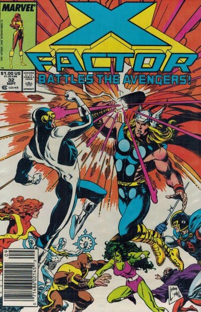 Cover for X-Factor (Marvel, 1986 series) #32 [Direct Edition]