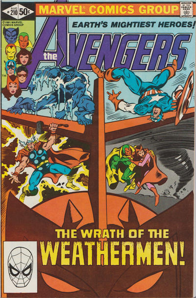 Cover for The Avengers (Marvel, 1963 series) #210 [Direct Edition]