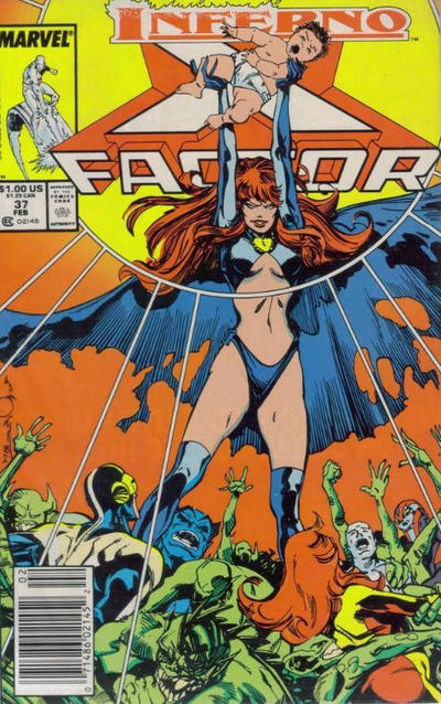 Cover for X-Factor (Marvel, 1986 series) #37 [Direct Edition]