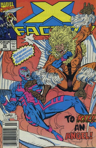 Cover for X-Factor (Marvel, 1986 series) #52 [Direct Edition]