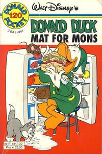 Cover Thumbnail for Donald Pocket (Hjemmet / Egmont, 1968 series) #120 - Donald Duck Mat for mons [1. opplag]