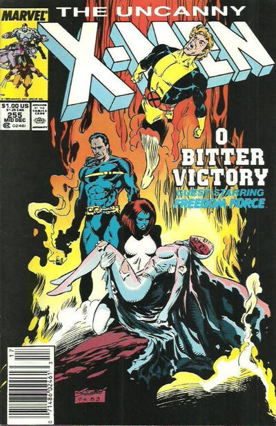 Cover for The Uncanny X-Men (Marvel, 1981 series) #255 [Newsstand]