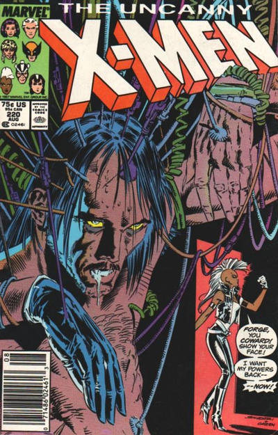 Cover for The Uncanny X-Men (Marvel, 1981 series) #220 [Newsstand]