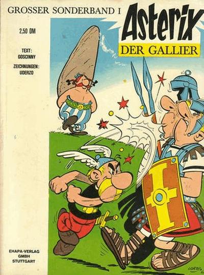 Cover for Asterix (Egmont Ehapa, 1968 series) #1 - Asterix der Gallier [Jubiläumsausgabe 1968 - 1988]