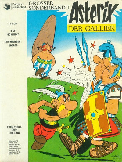 Cover for Asterix (Egmont Ehapa, 1968 series) #1 - Asterix der Gallier [2. Aufl. / 2,80 DEM]
