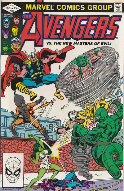 Cover for The Avengers (Marvel, 1963 series) #222 [Direct Edition]