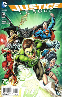 Cover Thumbnail for Justice League (DC, 2011 series) #44 [Green Lantern 75th Anniversary Cover Variant]