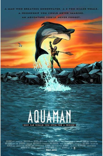 Cover for Aquaman (DC, 2011 series) #40 [Movie Poster Cover]