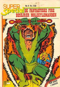 Cover Thumbnail for Super Special (Winthers Forlag, 1978 series) #4 - De Fantastiske Fire besejrer Molekylemanden