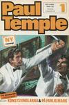 Cover for Paul Temple (Semic, 1970 series) #1/1970