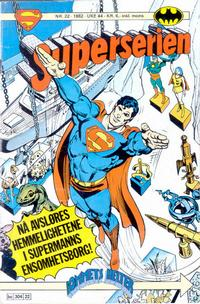 Cover Thumbnail for Superserien (Semic, 1982 series) #22/1982