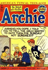 Cover Thumbnail for Archie Comics (Archie, 1942 series) #51