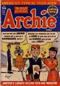 Cover Thumbnail for Archie Comics (Archie, 1942 series) #54
