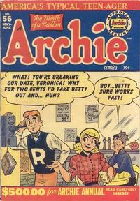 Cover Thumbnail for Archie Comics (Archie, 1942 series) #56