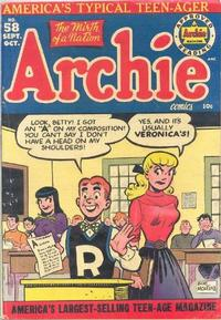Cover Thumbnail for Archie Comics (Archie, 1942 series) #58