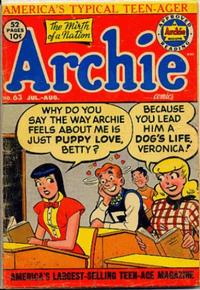 Cover Thumbnail for Archie Comics (Archie, 1942 series) #63