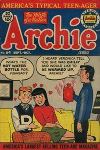 Cover Thumbnail for Archie Comics (Archie, 1942 series) #64