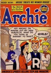 Cover Thumbnail for Archie Comics (Archie, 1942 series) #69
