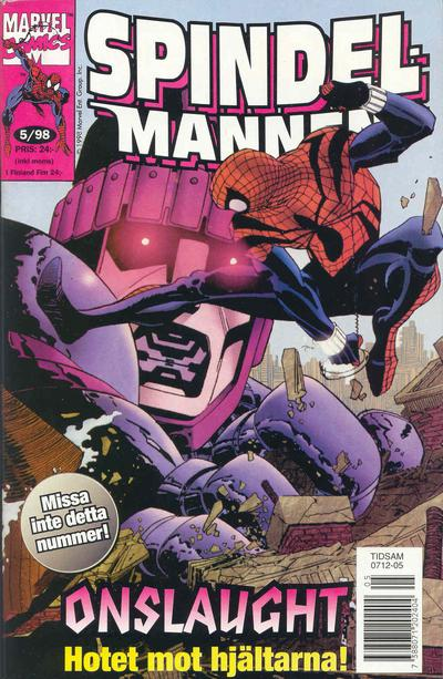 Cover for Spindelmannen (Egmont, 1997 series) #5/1998