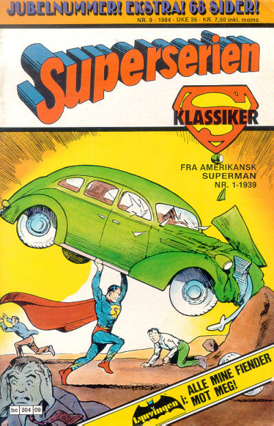 Cover for Superserien (Semic, 1982 series) #9/1984