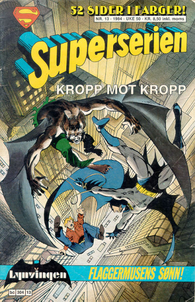 Cover for Superserien (Semic, 1982 series) #13/1984