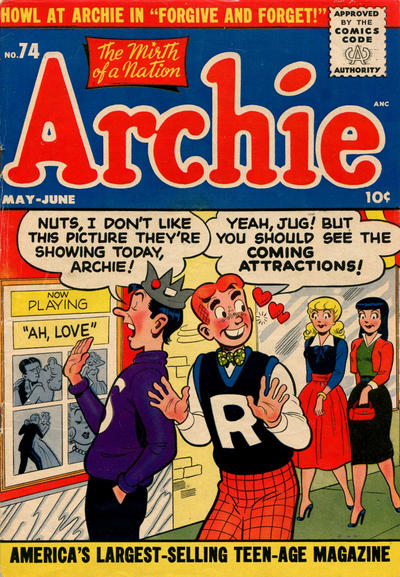 Cover for Archie Comics (Archie, 1942 series) #74