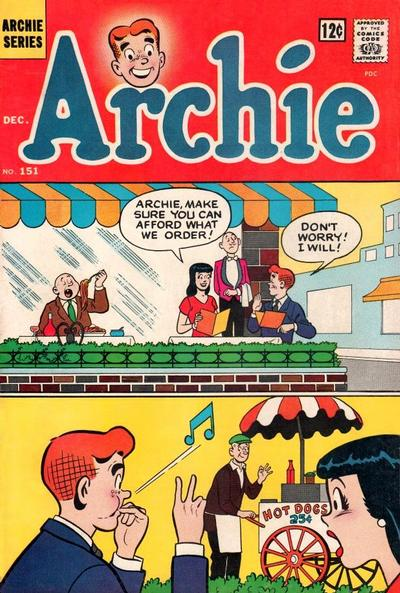 Cover for Archie (Archie, 1959 series) #151