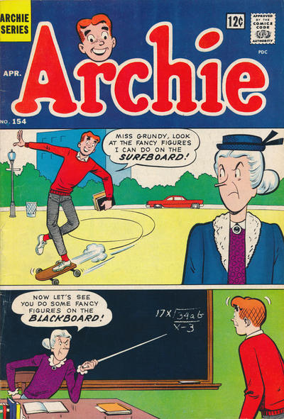 Cover for Archie (Archie, 1959 series) #154