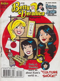 Cover Thumbnail for Betty and Veronica Comics Digest Magazine (Archie, 1983 series) #192 [Direct Edition]