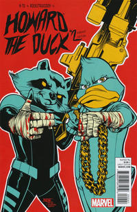 Cover Thumbnail for Howard the Duck (Marvel, 2015 series) #2 [Variant Edition - Run The Jewels - Mahmud Asrar Cover]
