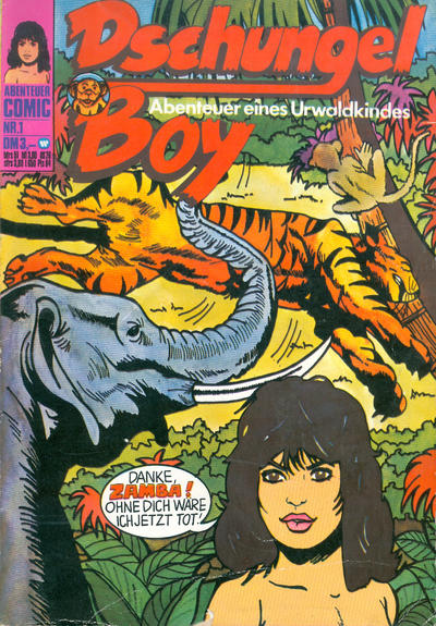 Cover for Dschungel Boy (BSV - Williams, 1975 series) #1