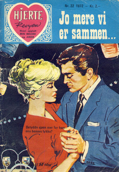 Cover for Hjerterevyen (Serieforlaget / Se-Bladene / Stabenfeldt, 1960 series) #22/1972