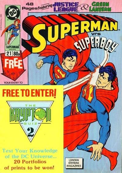 Cover for Superman (Egmont UK, 1988 series) #21