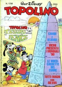Cover Thumbnail for Topolino (The Walt Disney Company Italia, 1988 series) #1798