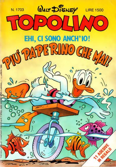 Cover for Topolino (The Walt Disney Company Italia, 1988 series) #1703