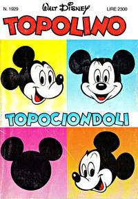 Cover Thumbnail for Topolino (Disney Italia, 1988 series) #1929